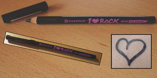 "essence ""I love rock"" gloss eye pencil, Farbe: ultra black"