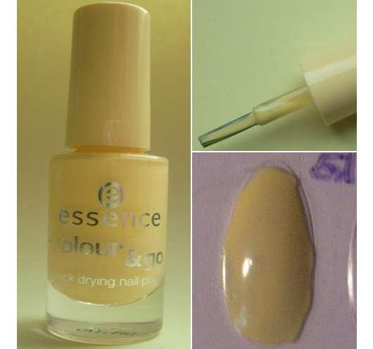 essence colour & go nail polish, Farbe: 51 mellow yellow