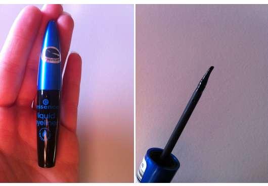 essence liquid eyeliner waterproof, Farbe: schwarz