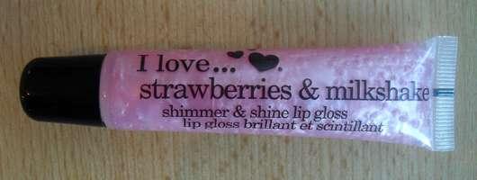 I love… strawberries & milkshake shimmer & shine lip gloss