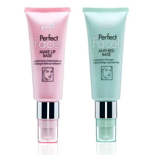 JETZT IN DER TUBE: p2 perfect face! make up base & p2 perfect face! anti-red base