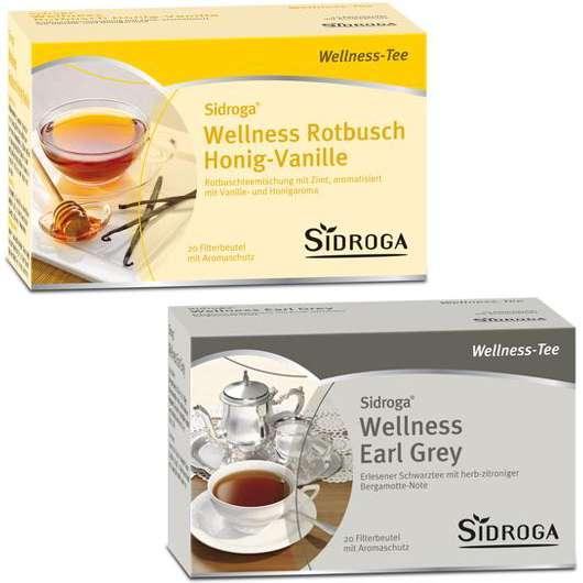 Sidroga® Wellness Rotbusch Honig-Vanille & Wellness Earl Grey