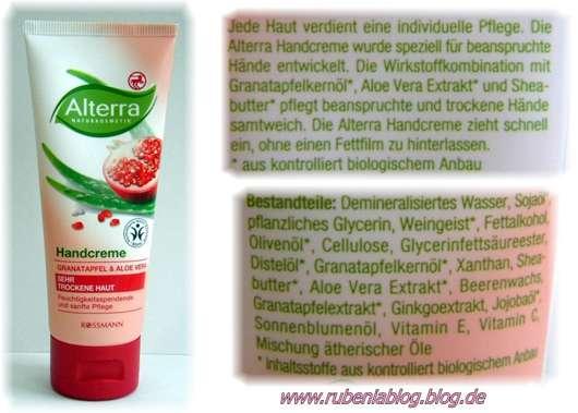 Alterra Handcreme Granatapfel & Aloe Vera für sehr trockene Haut