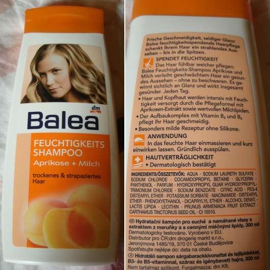 Balea Feuchtigkeits Shampoo Aprikose + Milch