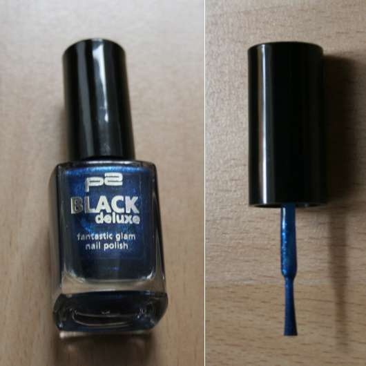 "p2 ""Black Deluxe"" fantastic glam nail polish, Farbe: 020 blue pearl (Limited Edition)"