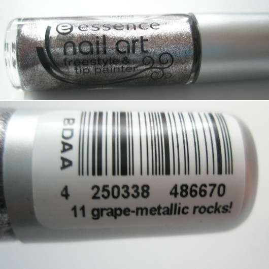 essence nail art freestyle & tip painter, Farbe: 11 grape-metallic rocks!