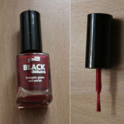 "p2 ""Black Deluxe"" fantastic glam nail polish, Farbe: 030 red pearl (Limited Edition)"