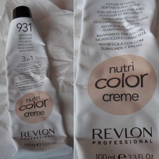 Revlon Professional Nutri Color Creme 3in1 Tönungskur, Farbe: 931 Hellbeige