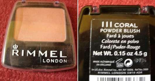 Rimmel London Powder Blush, Farbe: 3 Coral
