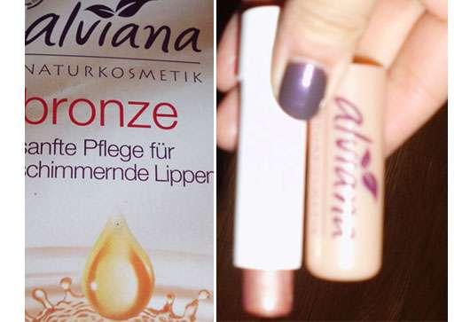 alviana Lippenpflege, Farbe: Bronze
