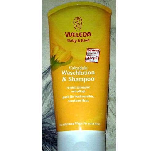 test reinigung weleda calendula waschlotion shampoo testbericht von schmetterling. Black Bedroom Furniture Sets. Home Design Ideas