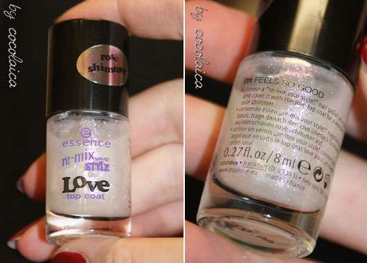 essence re-mix your style LOVE top coat, Farbe: 01 feels so good (LE)