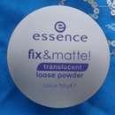 essence fix & matte loose powder, Farbe: translucent
