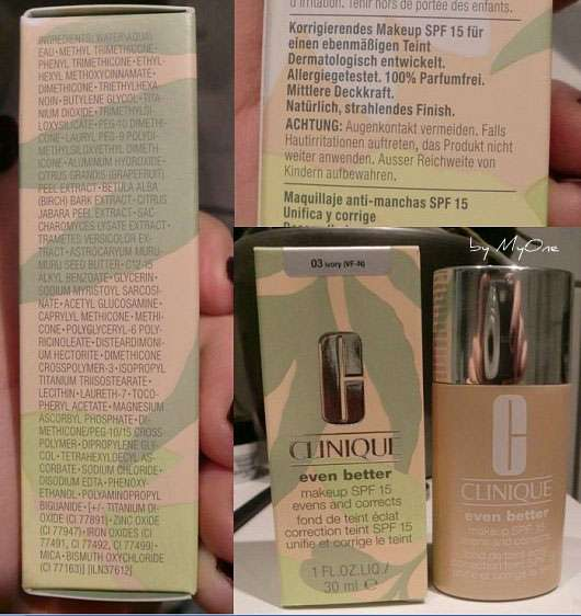 Clinique even better makeup SPF 15, Farbe: 03 ivory
