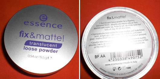 essence fix & matte! translucent loose powder