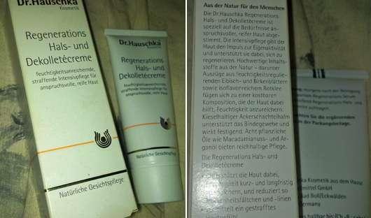 Dr. Hauschka Regenerations Hals- und Dekolettécreme