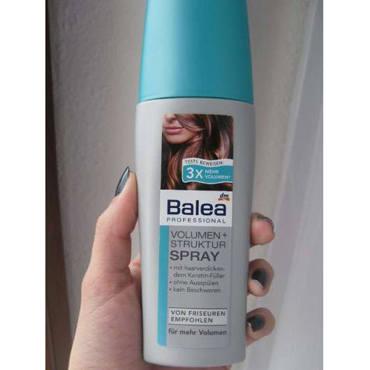 Test Spezialstyling Balea Professional Volumen Struktur Spray