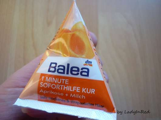 "Balea 1 Minute Soforthilfe Kur ""Aprikose & Milch"""
