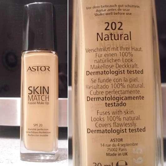 Astor Skin Match Fusion Make Up, Farbe: 202 Natural