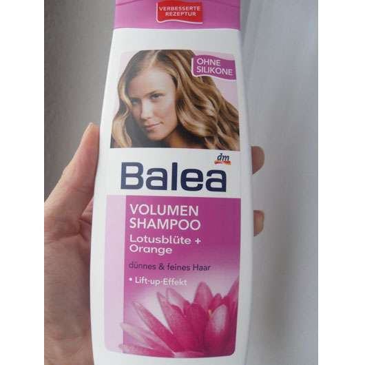 Balea Volumen Shampoo Lotusblüte + Orange (ohne Silikone)