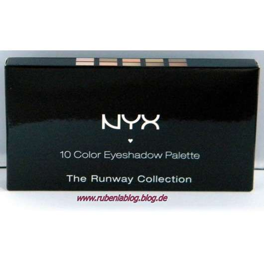 NYX 10 Color Eyeshadow Palette The Runway Collection, Farbe: Catwalk