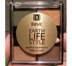 Produktbild zu basic earth life style quattro eyeshadow fields of gold – Farbe: fields of gold (LE)
