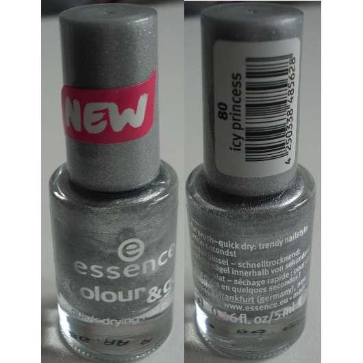 essence colour & go quick dry nail polish, Farbe: 80 icy princess