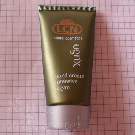 LCN natural cosmetics ognx hand cream intensive argan