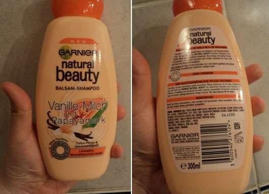 Garnier Natural Beauty Balsam-Shampoo Vanille-Milch und Papayamark