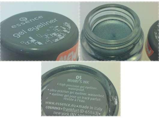 essence gel eyeliner, Farbe: 05 miami's ink