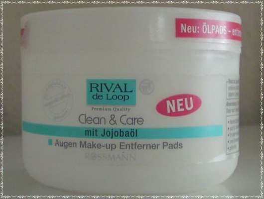 Rival de Loop Clean & Care Augen Make-up Entferner Pads