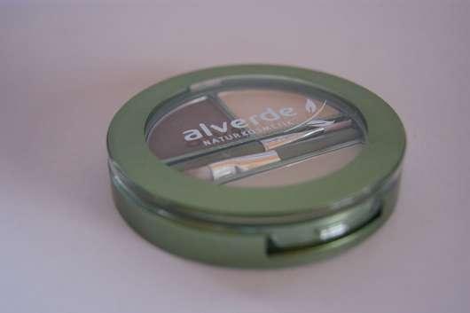 alverde Augen-Brauen-Kit, Farbe: 01 Blonde (neue Pinsel)