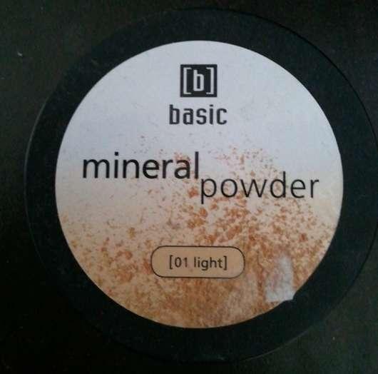 test puder basic mineral powder farbe 01 light testbericht von kleene 30. Black Bedroom Furniture Sets. Home Design Ideas
