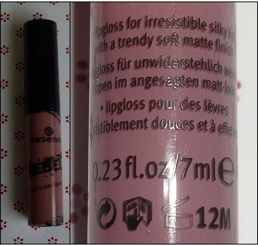 essence rebels soft matte lipgloss, Farbe: 01 mauve like a rockstar (LE)