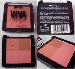 Produktbild zu p2 cosmetics viva argentina triple touch blush palette – Farbe: 010 chica guapa (LE)