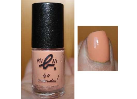"agnès b. mini b. 40 seconds nail polish, Farbe: Orange-Sunset (""Pastell in Paris"" Kollektion)"