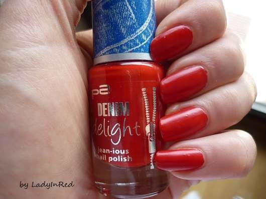 p2 denim delight jean-ious nail polish, Farbe: 040 sassy red (LE)