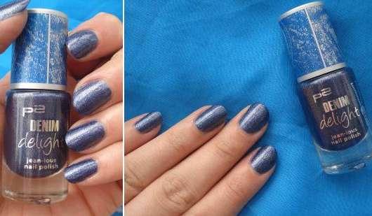 p2 denim delight jean-ious nail polish, Farbe: 030 indigo denim (LE)