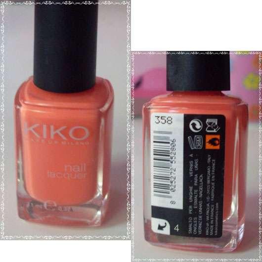 KIKO nail lacquer, Farbe: 358 Peach Rose