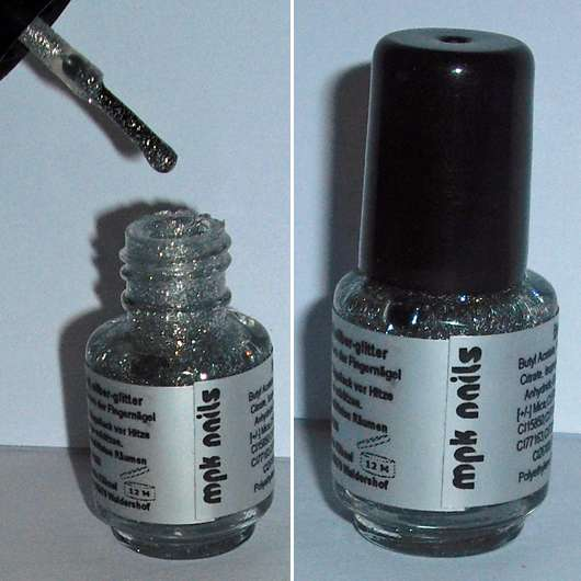 test nagellack mpk nails nail polish mini farbe silber glitter testbericht von temin. Black Bedroom Furniture Sets. Home Design Ideas