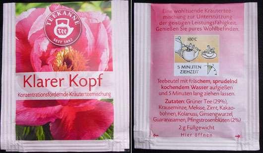 "<strong>Teekanne</strong> ""Klarer Kopf"" Konzentrationsfördernde Kräuterteemischung"