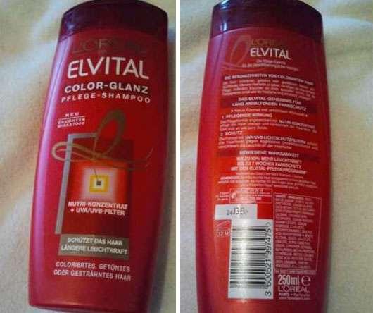 test shampoo l or al paris elvital color glanz pflege. Black Bedroom Furniture Sets. Home Design Ideas