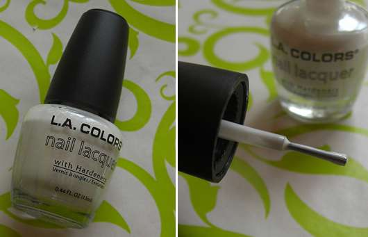 L.A. Colors Nail Lacquer With Hardeners, Farbe: French White