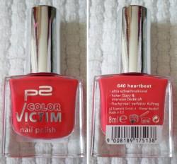Produktbild zu p2 cosmetics color victim nail polish – Farbe: 640 heartbeat