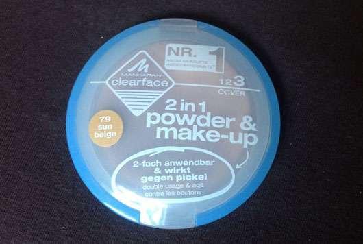 Manhattan Clearface 2in1 powder & make-up, Nuance: 79 Sun Beige