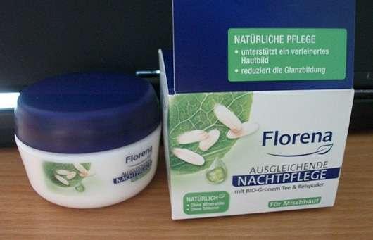 Florena Ausgleichende Nachtpflege mit Bio-Grünem Tee & Reispuder
