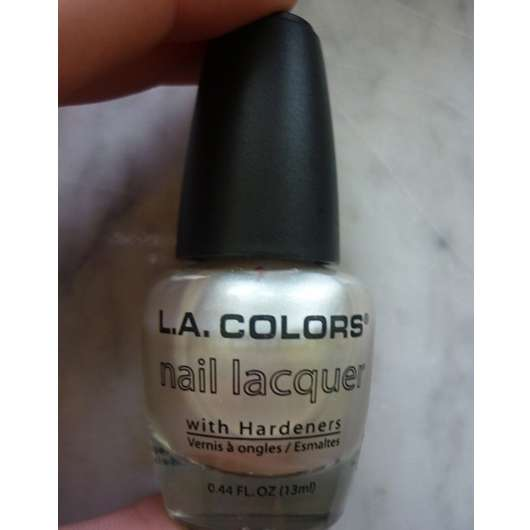 L.A. Colors Nail Lacquer With Hardeners, Farbe: NP125 Pearl