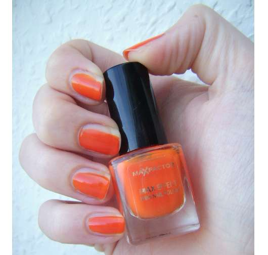 Max Factor Max Effect Mini Nail Polish, Farbe: 25 Bright Orange