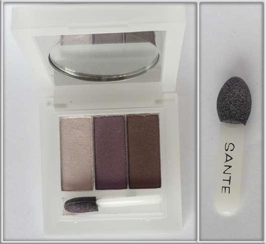 SANTE Eyeshadow Trio, Farbe: 02 Aubergine
