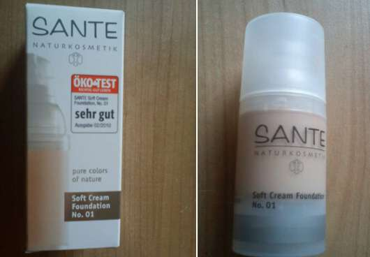 SANTE Soft Cream Foundation, Nuance: 01 Porcellan